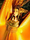 Kvinna i karnevalklänning Royaltyfri Fotografi