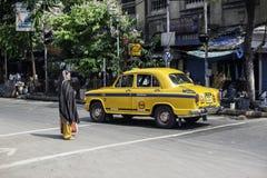Kvinna i Kolkata, Indien Arkivbild