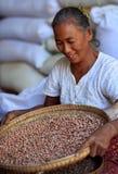 Kvinna i Mandalay Royaltyfri Fotografi