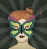 Kvinna i maskeraden Royaltyfri Foto