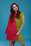 Kvinna i modekläder Härlig modell In Stylish Clothing Royaltyfri Bild