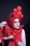 Kvinna i rött. Royaltyfri Fotografi