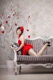 Kvinna i red arkivfoton