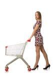 Kvinna i shoppingbegrepp Arkivfoto