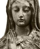 Kvinna i sorg som ett symbol av död Arkivfoto