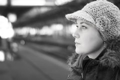 Kvinna i staden Royaltyfri Fotografi