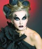 Kvinna i svart. Royaltyfri Fotografi