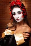 Kvinna i traditionell östlig dräkt royaltyfria foton