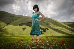 Kvinna i underland arkivfoto