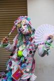 Kvinna i utsmyckat cosplay på Harajuku arkivfoton