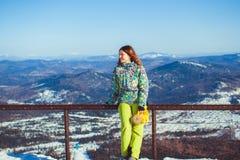 Kvinna i vinterberg Royaltyfria Foton