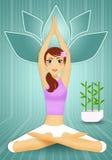 Kvinna i yogameditation Fotografering för Bildbyråer