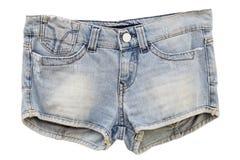 Kvinna jeanskortslutningar Arkivbilder