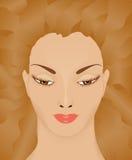Kvinna med att fladdra hår Arkivbild