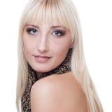 Kvinna med blont hår Royaltyfri Bild