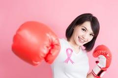 Kvinna med bröstkorghälsobegrepp Fotografering för Bildbyråer