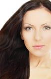 Kvinna med brunt hår Royaltyfri Fotografi