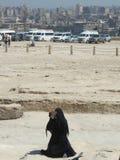 Kvinna med burka arkivfoton