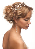 Kvinna med den härliga frisyren arkivfoton