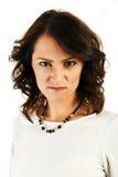 Kvinna med den ilskna framsidan Royaltyfria Foton