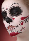 Kvinna med diameter de los muertos makeup Royaltyfri Bild