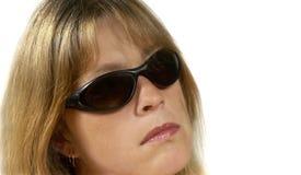 Kvinna med exponeringsglas Royaltyfri Foto