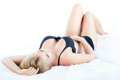 Kvinna med härliga bröst Arkivfoton