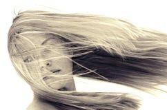 Flödande hår Arkivfoto