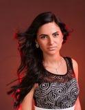 Kvinna med hårflyg Royaltyfria Bilder