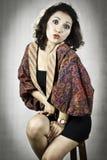 Kvinna med kläder traditionella indonesia 2. Royaltyfri Bild