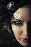 Kvinna med klockan Royaltyfri Fotografi