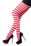 Kvinna med långa ben Arkivfoto