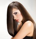 Kvinna med långt hår Royaltyfria Foton