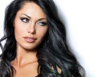 Kvinna med långt hår för skönhet Royaltyfri Foto