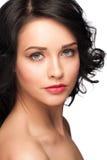 Kvinna med ljus makeup royaltyfri foto