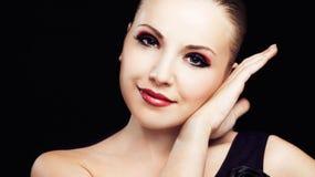 Kvinna med makeup Royaltyfria Foton