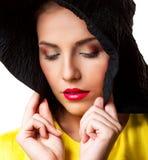 Kvinna med makeup royaltyfri foto