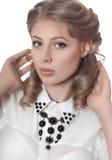 Kvinna med makeup fotografering för bildbyråer