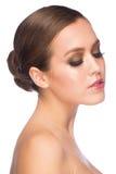 Kvinna med makeup Arkivbilder
