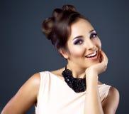 Kvinna med makeup Royaltyfri Fotografi