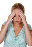 Kvinna med migrän arkivbilder