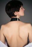 Kvinna med naken baksida Arkivfoton