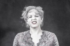Kvinna med pulver Royaltyfria Foton