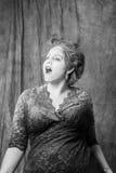 Kvinna med pulver Arkivbild