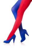 Kvinna med strumpor Fotografering för Bildbyråer