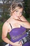 Kvinna med tatueringen Royaltyfria Foton