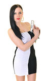 Kvinna med vapnet Royaltyfri Foto