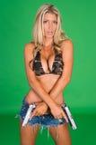 Kvinna med vapnet Royaltyfri Fotografi