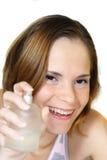 Kvinna och doft Royaltyfri Fotografi