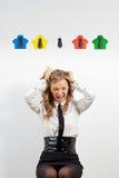 Kvinna- och origamiskjortor Royaltyfria Bilder